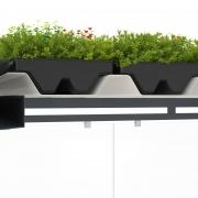 Pflanzenwanne für Dachbegrünung auf Trapezblechen