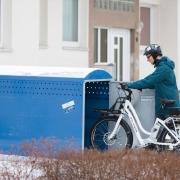 Fahrradgarage BikeBox 1 mit eingestelltem Fahrrad