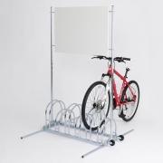 Werbefahrradständer Modell BW 5000 mit eingestelltem Fahrrad