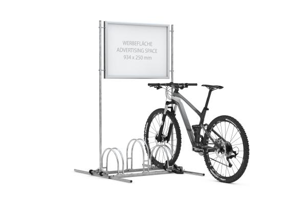 Werbefahrradständer CW 5000 mit eingestellten Fahrrädern