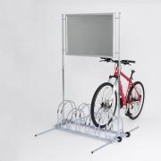 Werbefahrradständer Modell CW 5000 mit eingestelltem Fahrrad