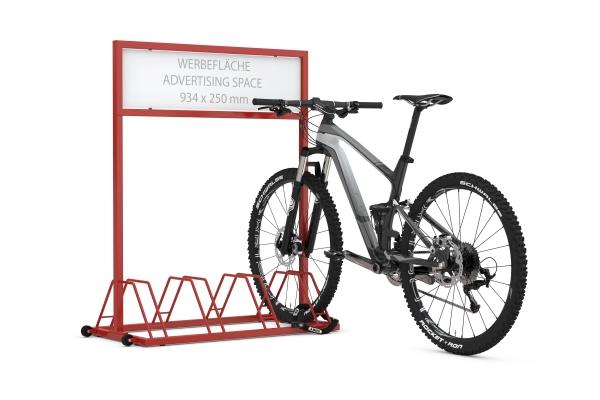 Werbefahrradständer EW 7004 mit eingestellten Fahrrädern