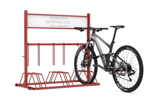 Werbefahrradständer Security Station mit eingestellten Fahrrädern