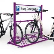 Fahrradständer Security Station mit Werbeschild