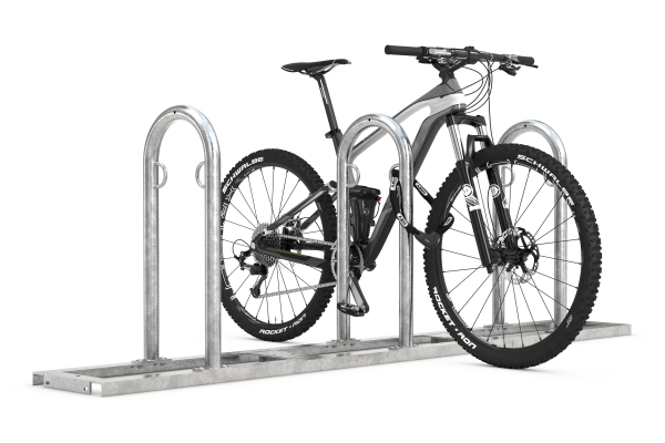 Fahrradanlehnbügel Track mit Fahrrad