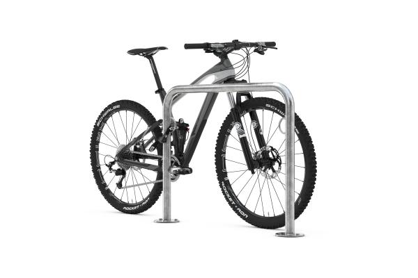 Fahrradanlehnbügel Trust mit Fahrrad