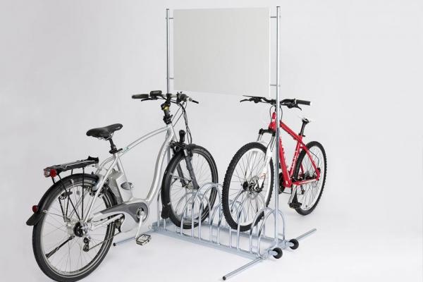 Werbefahrradständer BW 5000 mit eingestellten Fahrrädern