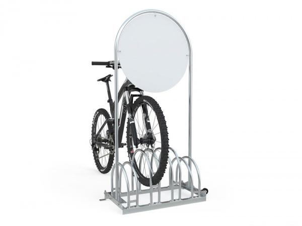 Werbefahrradständer RW 5454 mit eingestellten Fahrrädern