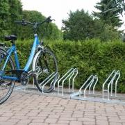 Fahrradständer Modell 2000 mit eingestelltem Fahrrad