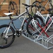 Fahrradständer 2500 mit eingestelltem Fahrrad