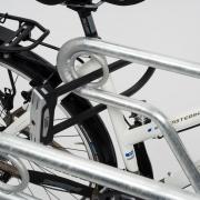 Fahrradständer Modell 2600 mit eingestelltem Fahrrad - Detailaufnahme
