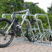 Fahrradständer Modell 2600 mit eingestelltem Fahrrad