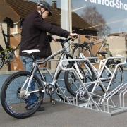 Fahrradständer Modell 2600 mit eingestellten Fahrrädern