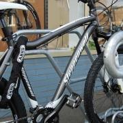 Fahrradständer Modell 4600 mit eingestellten Fahrrändern - Detailaufnahme
