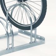 Fahrradständer Modell 5000 mit eingestelltem Fahrrad - Detailaufnahme