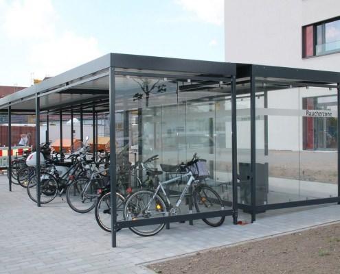 Fahrrad-Abstell-Anlage mit Überdachung Modell Köln