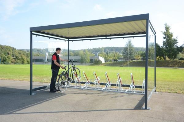 Fahrradüberdachung Modell Köln mit Fharradständern