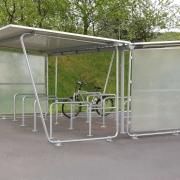 Fahrradüberdachung Siegen in zweiseitiger Ausführung