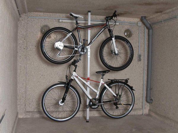 Fahrradparksystem Spacer mit Fahrrädern