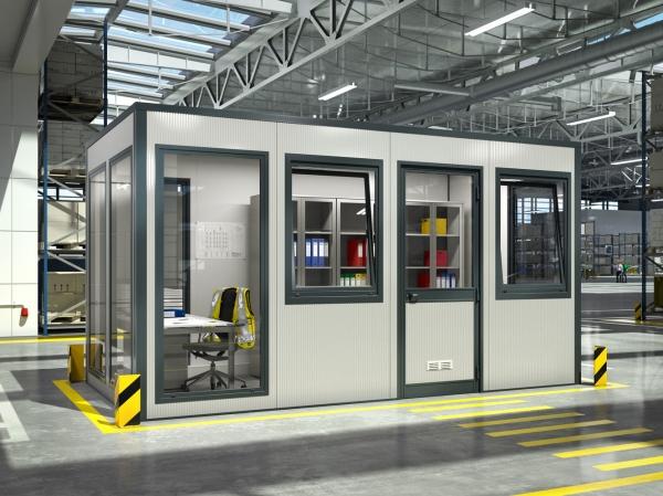 Raumsystem SmartUnit in Produktionshalle