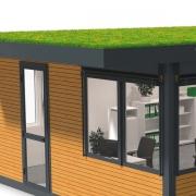 GreenPlus Dachbegrünung auf Raumsystem